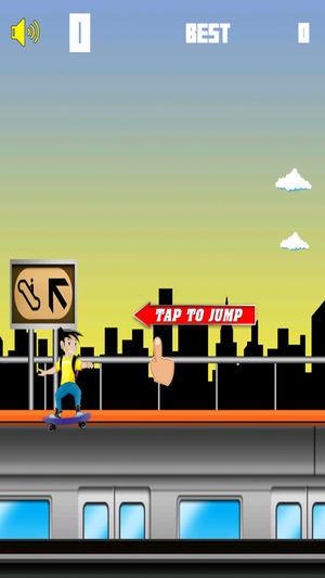 Jumpy Skater - 免费街机游戏男孩女孩和家庭游戏下载